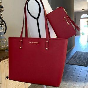 ♥️ New MK set medium tote & double zipper wallet